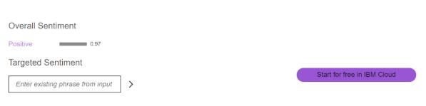 IBM Watson Overall Sentiment | Wordnerds